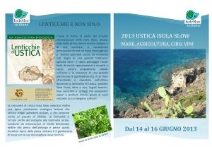 DEPLIANT ustica isola slow 2013