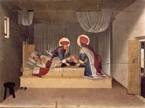 Beato Angelico – Guarigione del diacono Giustiniano, predella della Pala di San Marco (Museo Nazionale di San Marco - Firenze