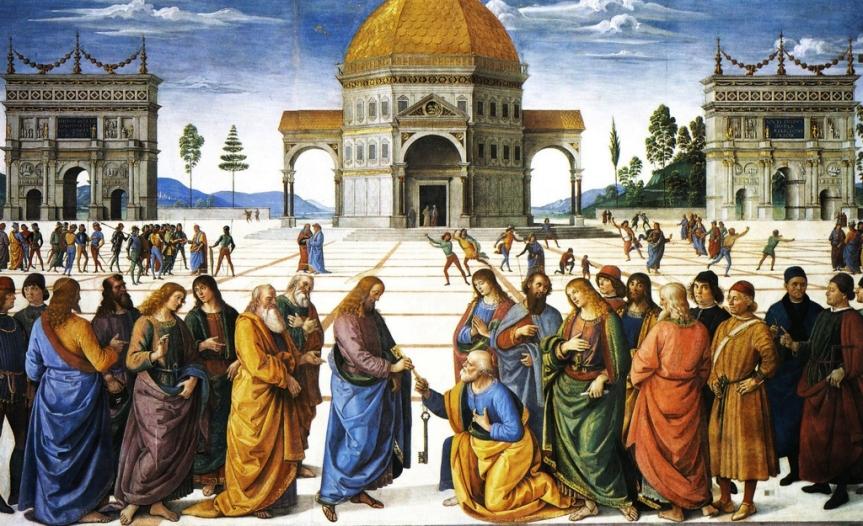 Perugino: la consegna delle chiavi