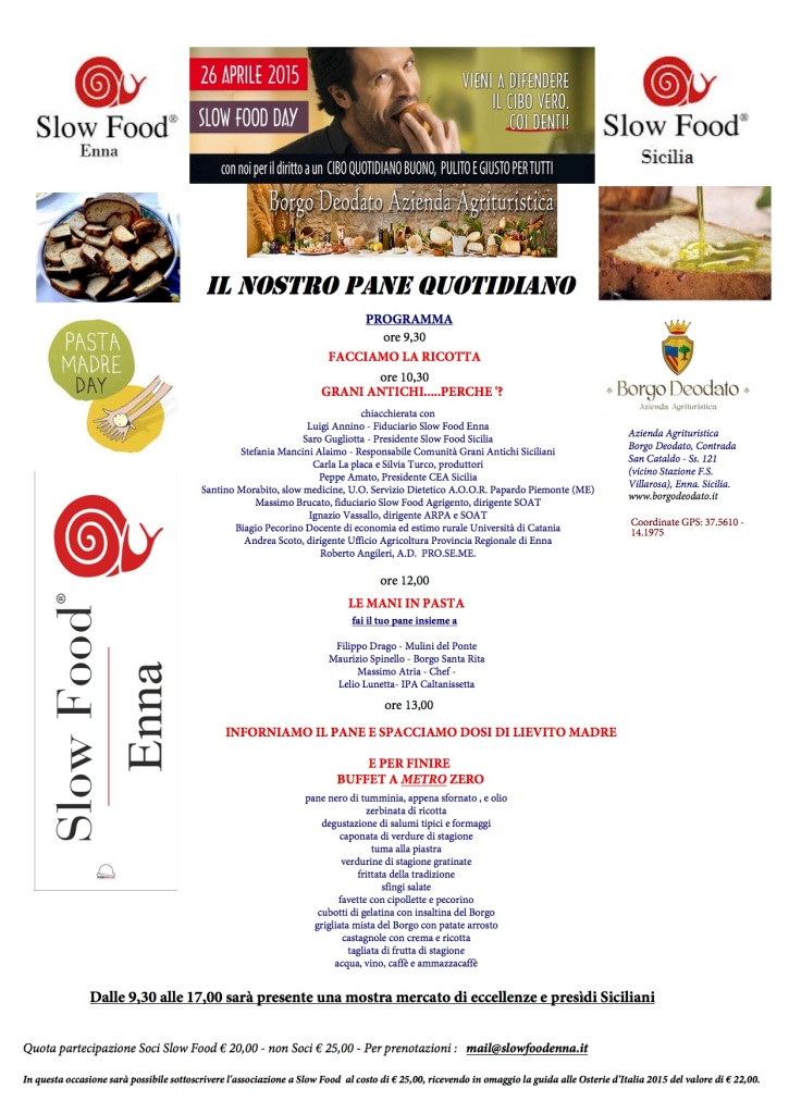 slow food day enna 2015
