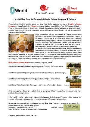 Comunicazione per i soci Slow Food Sicilia