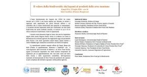 """Anteprima del Convegno: """"il Valore della Biodiversità: dai legumi ai prodotti delle aree montane"""". Palermo, venerdì 22 luglio, ore17.00"""