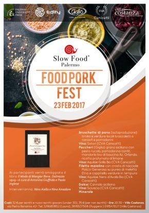 Food Pork Fest. Villa Costanza, giovedì 23febbraio