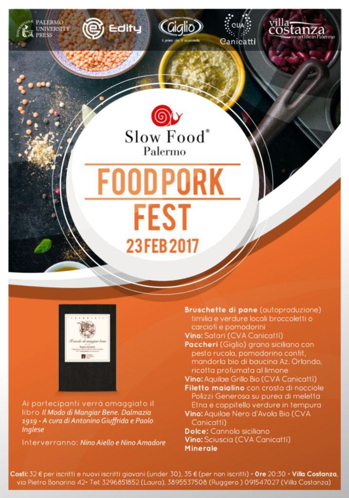 locandina Food Pork Fest